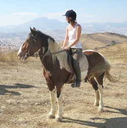 Horse riding holidays in Sicily.