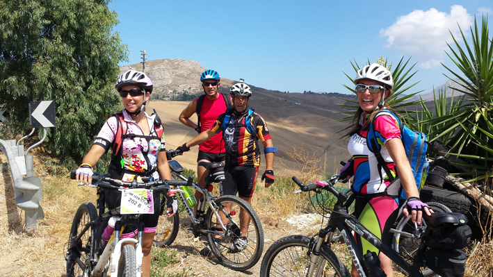 cycling Sicily