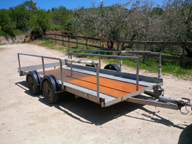 Cycling Holidays in Sicily - Purposebuilt Trailer.