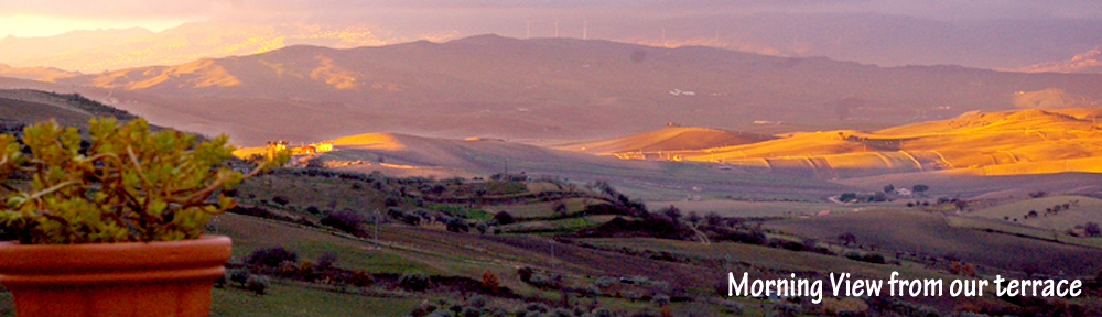 Dawn on the Gurfa valley. View from our terrace.