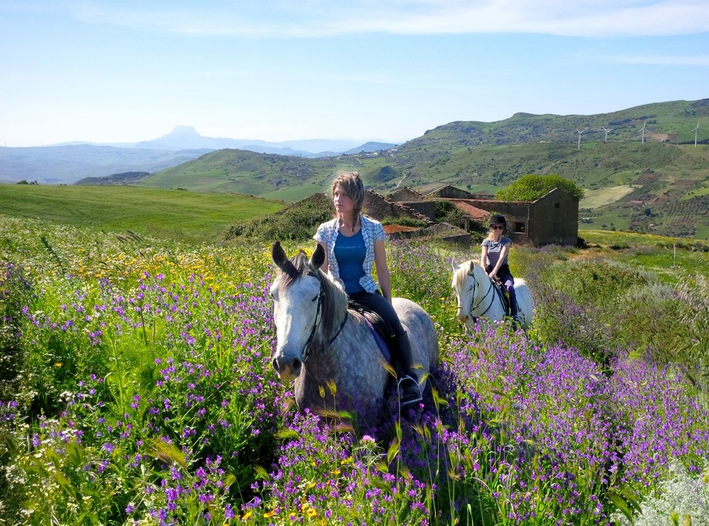 Horse riding holidays in Sicily