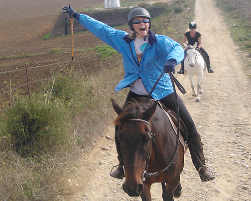 Horseback riding in Sicily.