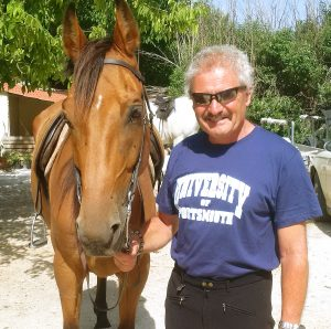 Horse riding Sicily - Me and my horse.